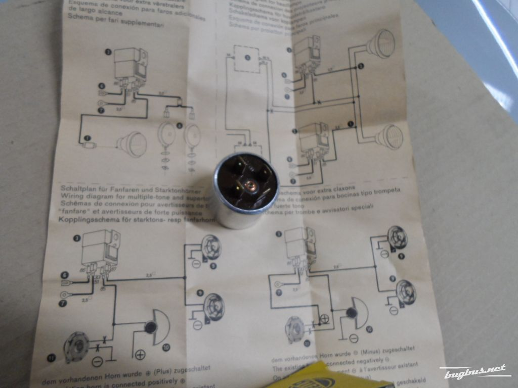 For Sale 12 Volt Horn Relay Hella Nos Eur 120 Wiring