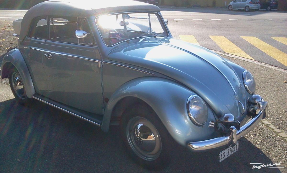 verkaufe vw k fer cabrio 1955 chf 150000. Black Bedroom Furniture Sets. Home Design Ideas