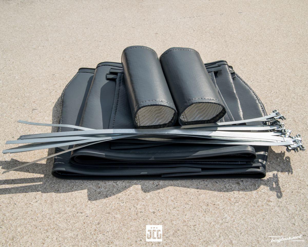 Te koop grey vinyl heating insulation covers set for bus