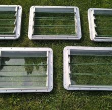 For sale - Jalousie windows for Westfalia SO-42 set of 5, EUR 1999