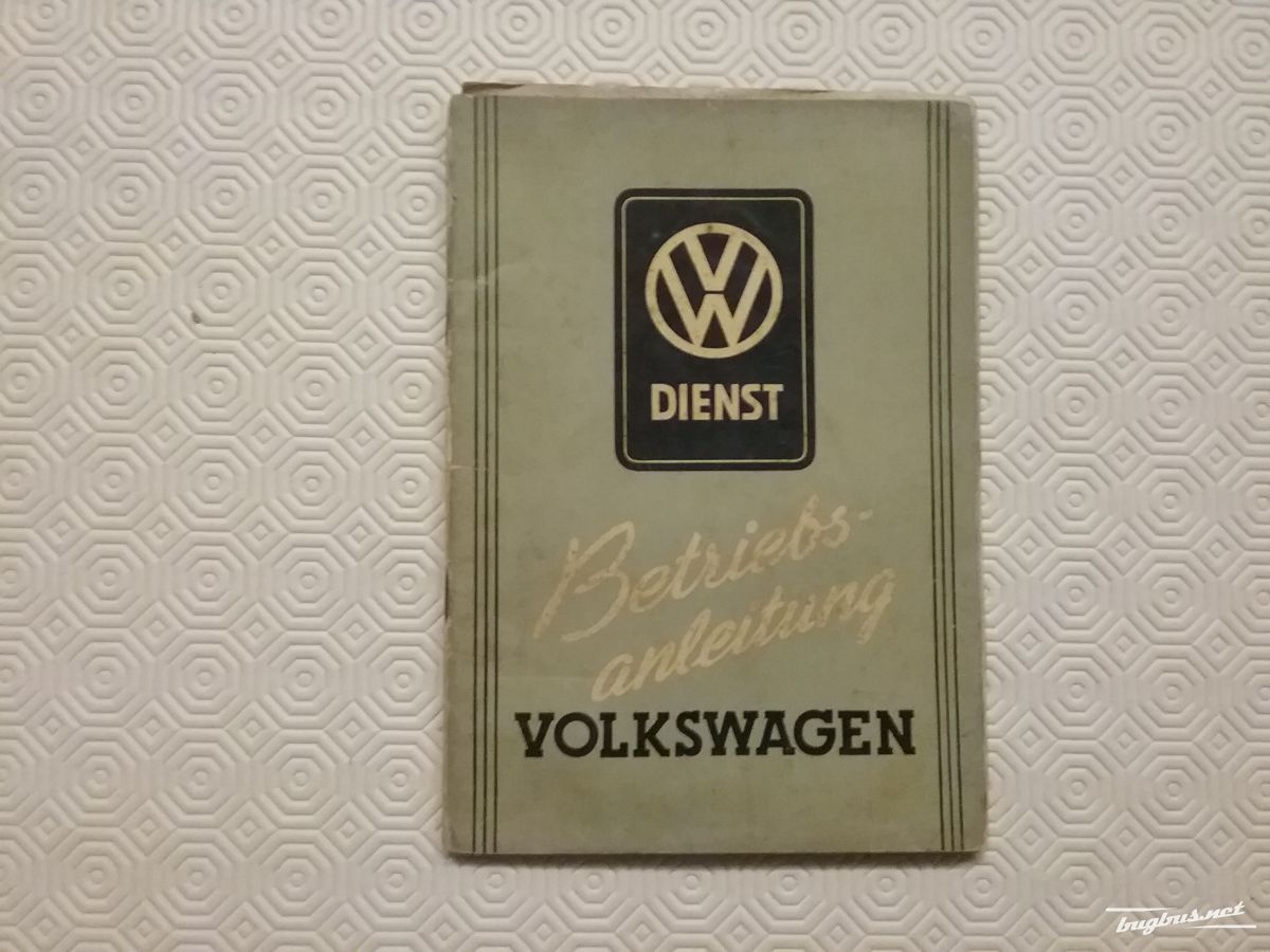 For sale - Owners Manual Volkswagen Beetle 1950, EUR 2000