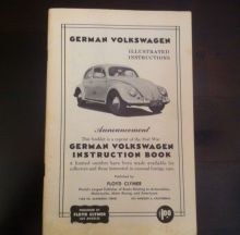 For sale - Volkswagen Beetle Owners manual 1949, EUR 75