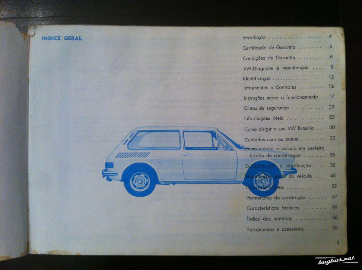 For sale - Volkswagen Brasilia Owners manual, EUR 245