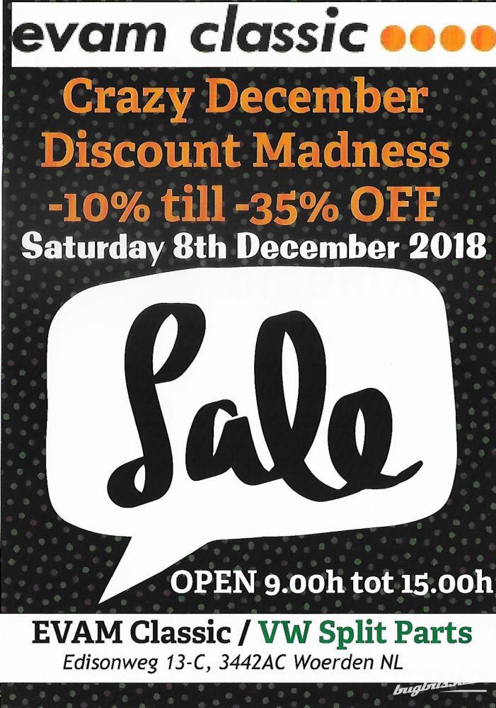 08 12 2018: EVAMCLASSIC Crazy December (Parts market)